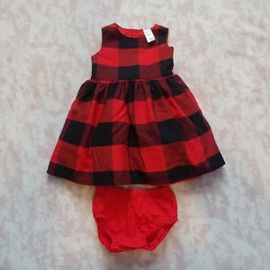 Carter's Buffalo Plaid Dress 18 Months